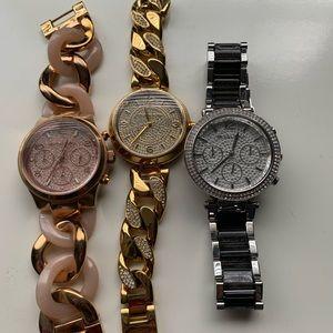 Michael Kors Watches- set of 3